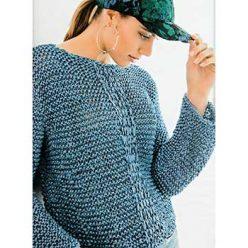 Вязание спицами. Пуловер спицами из ленточной пряжи