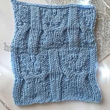 Красивый узор Бабочки спицами для пуловера, схема узора