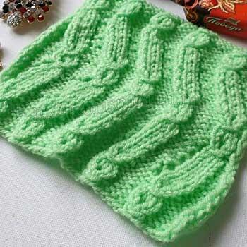 Красивый простой узор спицами для пуловера, джемпера, схема узора