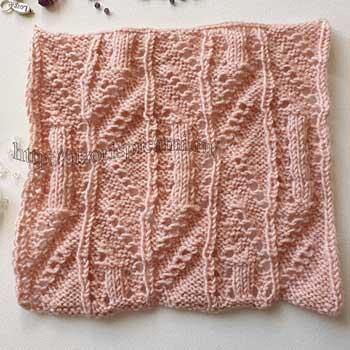 Красивый ажурный узор спицами для палантина, пуловера, схема узора