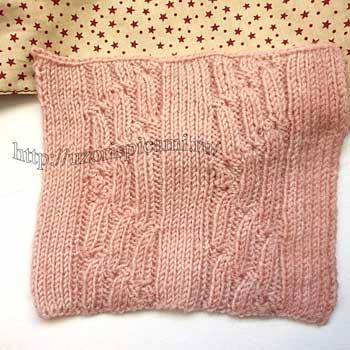 Красивый рельефный узор спицами для шарфа, шапки, схема узора