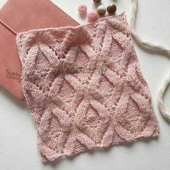 Красивые ромбы спицами для пуловера, джемпера, схема узора