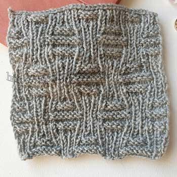 Двухсторонний эластичный простой узор спицами для шарфа от uzorispicami