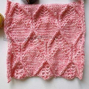 Красивые рельефные ромбы для пуловера, схема узора
