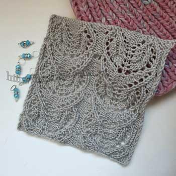 Красивый ажурный узор спицами для летнего топа, пуловера. схема узора
