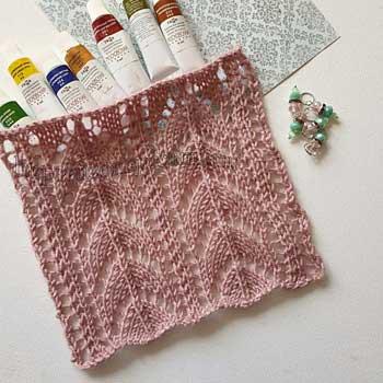 Красивый ажурный узор спицами для пуловера, летнего топа, схема узора + видео как связать
