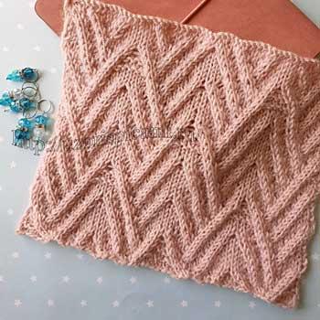 ККрасивый рельефный узор спицами для пуловера, шарфа, схема узора + видео как связать