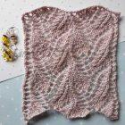 Ажурный узор спицами для топа, пуловера, палантина, схема узора