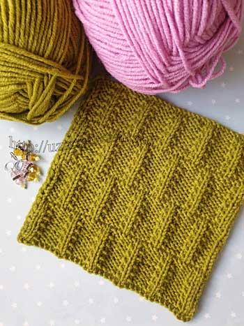 Красивый плотный узор спицами для джемпера, шарфа, схема узора