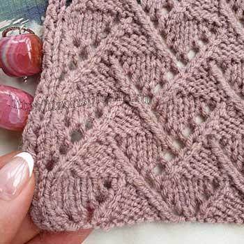 Красивая коса спицами для пуловера, джемпера, схема узора