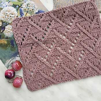 Красивый ажурный узор спицами для пуловера, джемпера, схема узора