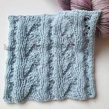 Ажурный узор спицами для пуловера, джемпера, схема узора + видео как связать