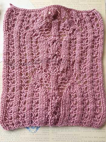Ажурный красивый узор с шишечками для пуловера, схема узора