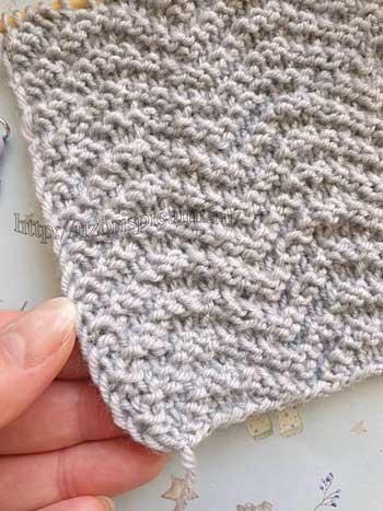 Простой узор спицами для шарфа, палантина, схема узора + видео как связать