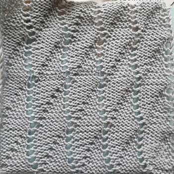 Ажурный узор спицами Ракушки, схема узора
