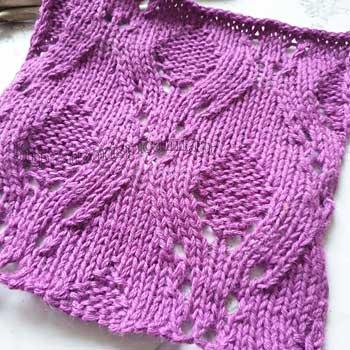 Красивый простой ажурный узор для пуловера, схема узора