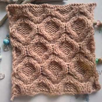 Красивый узор из кос для пуловера от uzorispicami