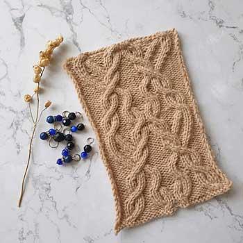 Арановый узор спицами для пуловера, схема узора от uzorispicami