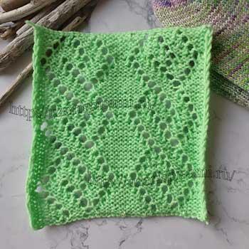 Простой ажурный узор для пуловера от uzorispicami