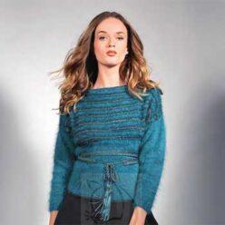 Вязание для женщин. Базовый пуловер спицами из ангоры, описание
