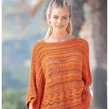 Вязание для женщин. Ажурный пуловер спицами оверсайз, описание