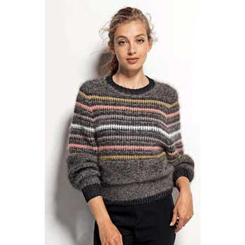 Вязание для женщин. Пуловер полосатый спицами, схема и описание