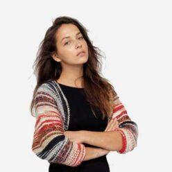 Вязание для женщин. Накидка спицами платочной гладью