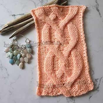 Красивый аран спицами для пуловера, схема узора