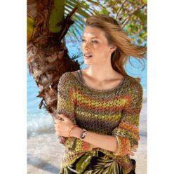 Вязание для женщин. Пуловер спицами с сетчатым узором