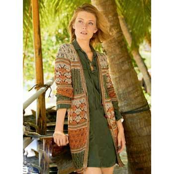 Вязание для женщин. Жакет спицами с сочетанием узоров