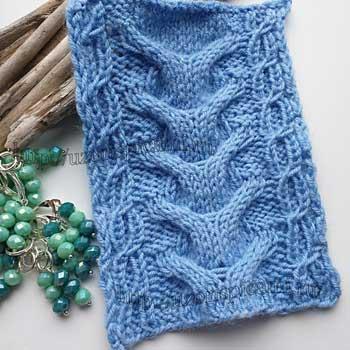 Красивая коса спицами для пуловера, схема и описание узора