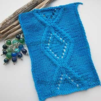 Красивые ажурные ромбы спицами для пуловера, узор спицами со схемой