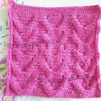 Простой и красивый узор спицами для пуловера, схема узора