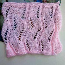 Красивый ажурный узор спицами для пуловера, палантина. Схема узора
