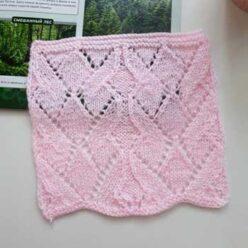 Красивый ажурный узор спицами для топа, пуловера. Схема узора