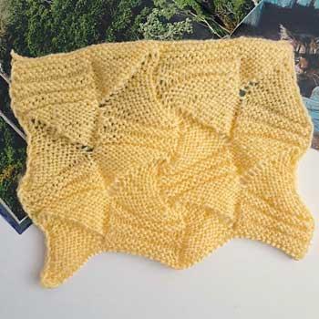 Красивый узор спицами для пуловера, схема узора