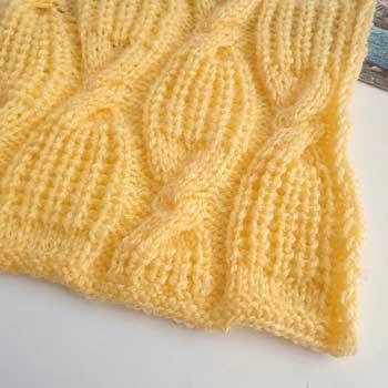 Красивый объемный узор спицами для пуловера, схема узора