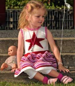 Вязание для девочек ПУЛОВЕР СПИЦАМИ С МОТИВОМ СЕРДЕЧКО