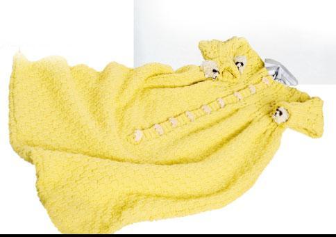 Вязание для малышей СПАЛЬНЫЙ МЕШОК СПИЦАМИ КОСАМИ И ШАХМАТНЫМ УЗОРОМ