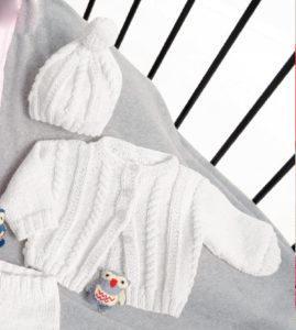 Вязание для малышей ЖАКЕТ, БРЮЧКИ И ШАПОЧКА СПИЦАМИ