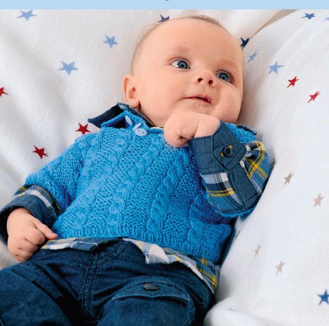 Вязание для малышей ПУЛОВЕР, ШАПОЧКА И НОСОЧКИ СПИЦАМИ
