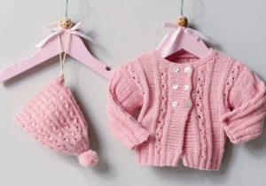 Вязание для малышей ЖАКЕТ И ШАПОЧКА СПИЦАМИ