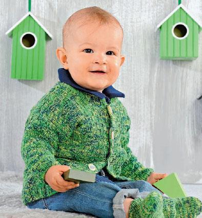 Вязание для малышей Жакет спицами, носочки спицами, шапочка крючком