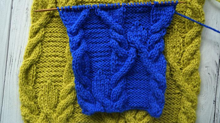 Схема вязания спицами, косы