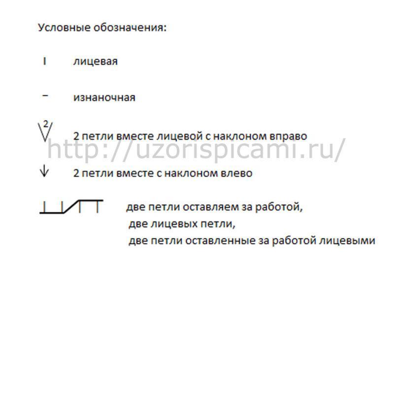 Схема вязания спицами, ажурные дорожки