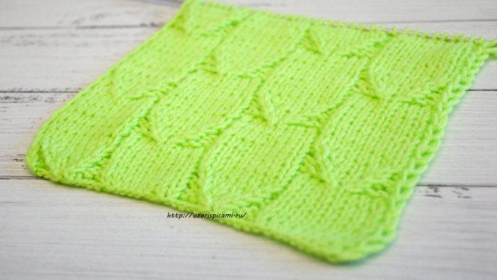 Схема вязания спицами Красивые дорожки, узор для шарфа, кардигана