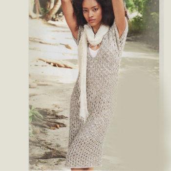 Вязание для женщин. Летнее ажурное платье спицами