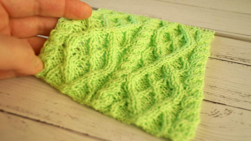 Схема вязания спицами, пряничный узор, узор для варежки, шарфа