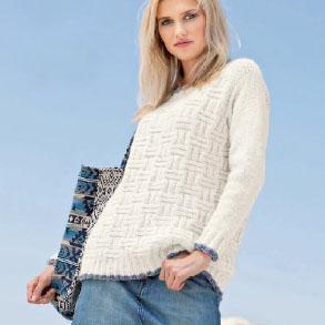 Вязание для женщин. Пуловер спицами с рельефным узором