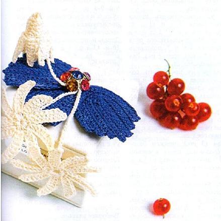 Вязание крючком. Брошь с листьями.